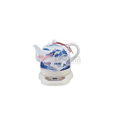 青花山水微電腦陶瓷電熱水壺