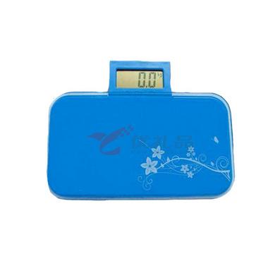 企鹅推拉屏超薄便携电子人体健康秤/酷袋秤 创意礼品