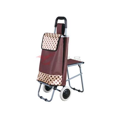 可折疊式購物車 帶凳子 凳子可折疊