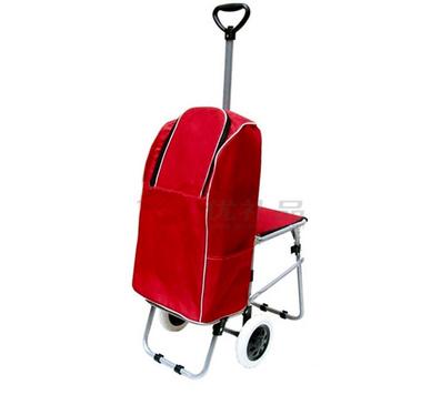 帶凳折疊牛津布購物車(伸縮架風火輪)