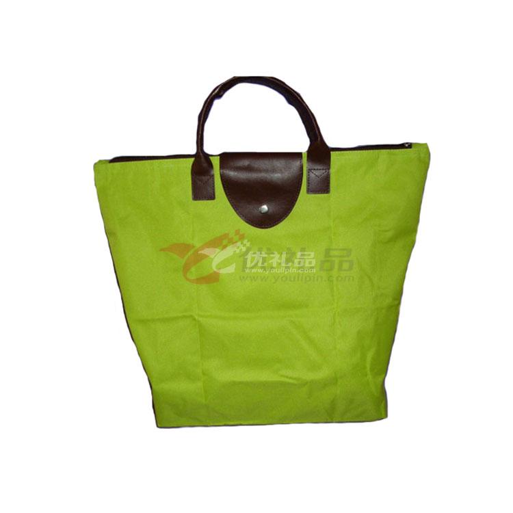 單色牛津布折疊購物包/單肩包/旅行包