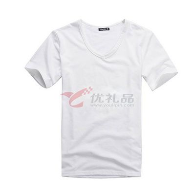 200g彈力精梳棉圓領衫/V領衫/T恤文化衫定制