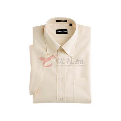 45支全棉男款纯色短袖衬衫定制