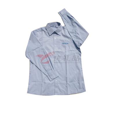 T/C牛津紡男款純色長袖襯衫定制