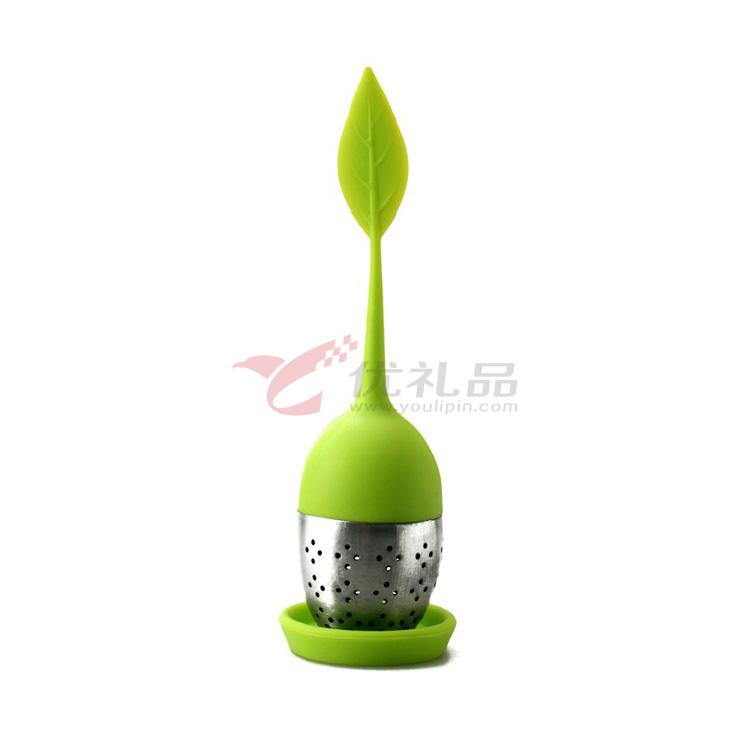 Stylor/法国花色纳米硅胶 欧式叶子茶包 茶滤茶漏 茶具