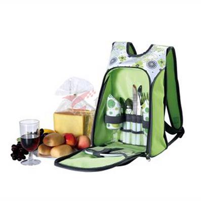 apollo阿波罗绿色两人份带餐具野餐包