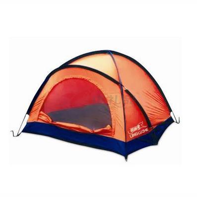 領路者橙色三人野營帳篷