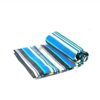 領路者藍色條紋野餐地毯/野餐墊/野營坐墊
