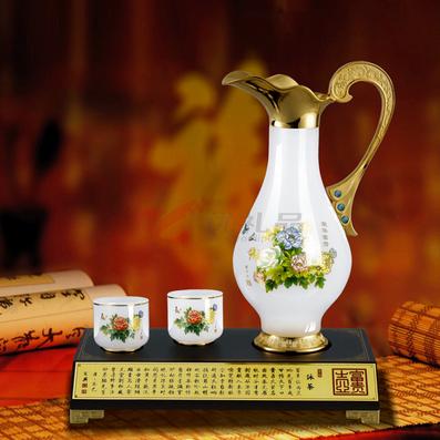 琉璃玉 富贵壶(彩花)