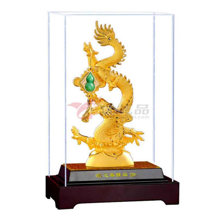 绒沙金工艺品2012龙年新品迎春接福(小号)