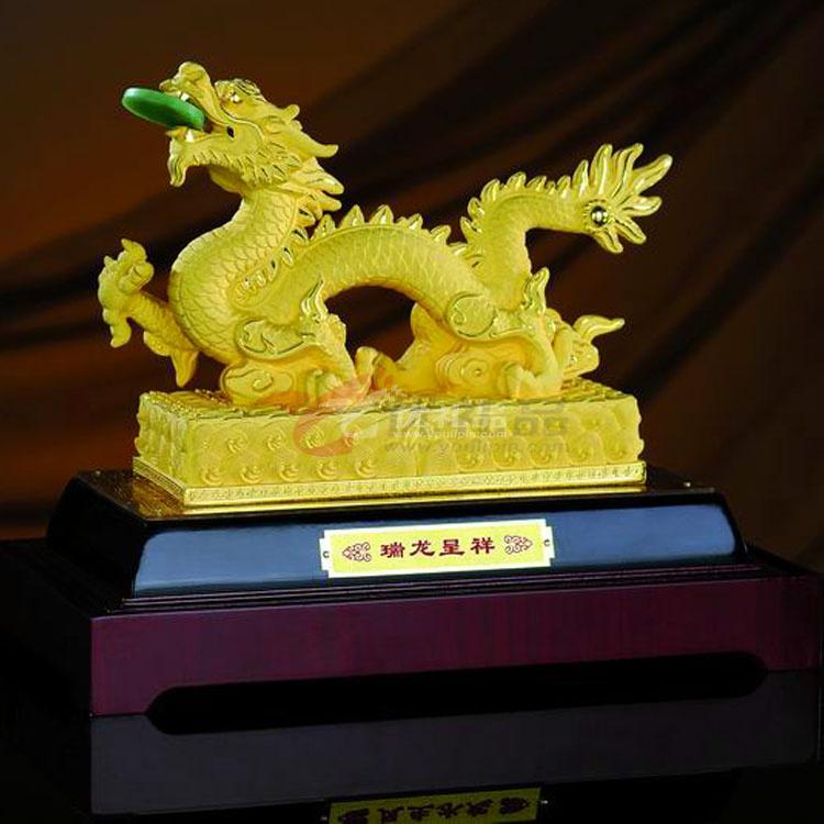 絨沙金工藝品2012龍年端龍呈祥(小號)