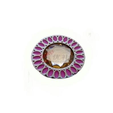 圓形內折疊向日葵掛包鉤 鎳色掛包器