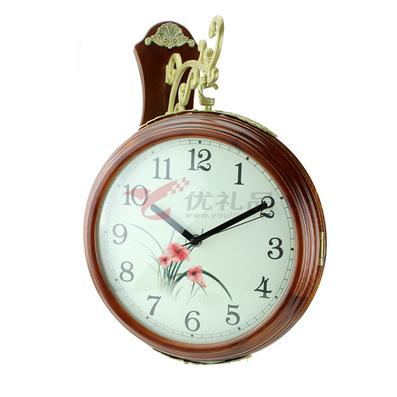 雙面掛鐘 雙面鐘 創意時尚 藝術鐘客廳靜音鐘表