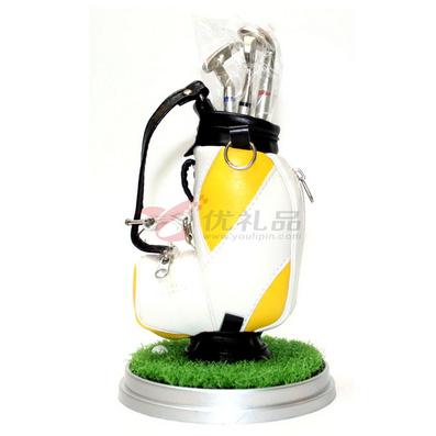 高爾夫筆袋/筆筒套裝(帶草坪)