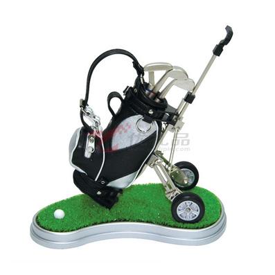 高尔夫拉车笔袋/笔筒套装(带草坪)