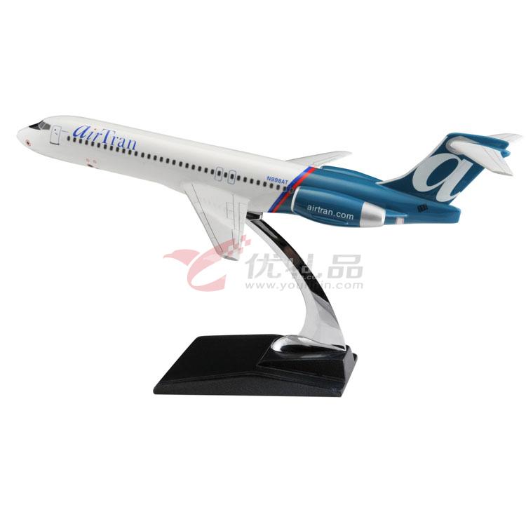 1:100波音717仿真模型/飞机模型