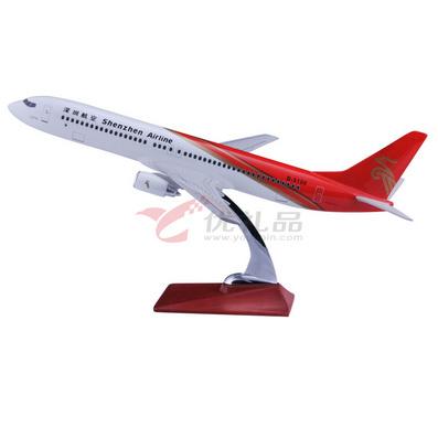 1:92波音737深圳航空仿真樹脂模型/飛機模型