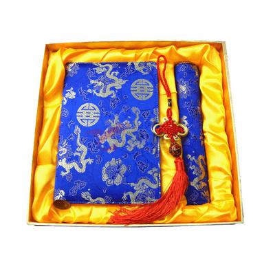 丝绸胶装笔记本鼠标垫套装