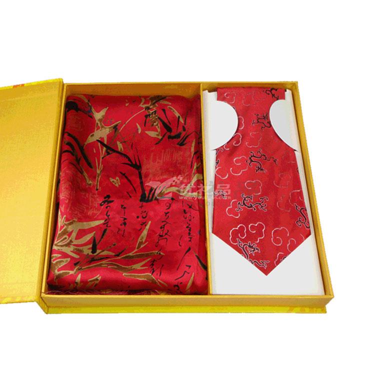 真絲披肩云錦領帶套裝 禮盒套裝