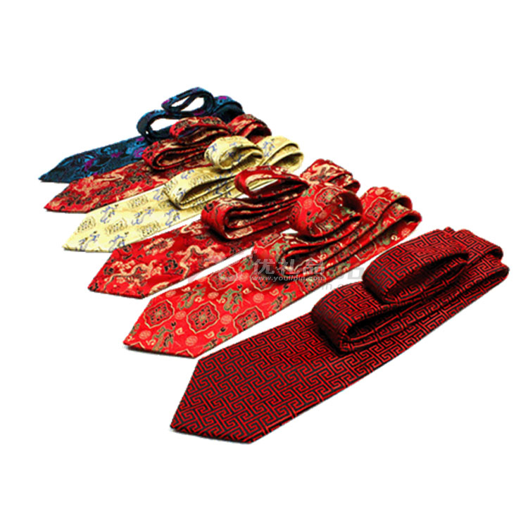 云锦领带 礼盒装 可印制LOGO