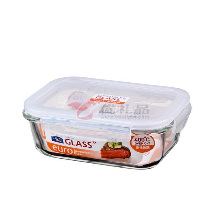 樂扣樂扣 耐熱玻璃保鮮盒(630ml)長方形