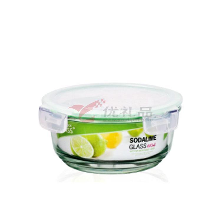 樂扣樂扣一般玻璃保鮮盒(460ml)小圓形