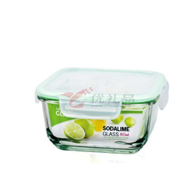 樂扣樂扣一般玻璃保鮮盒(820ml)方形