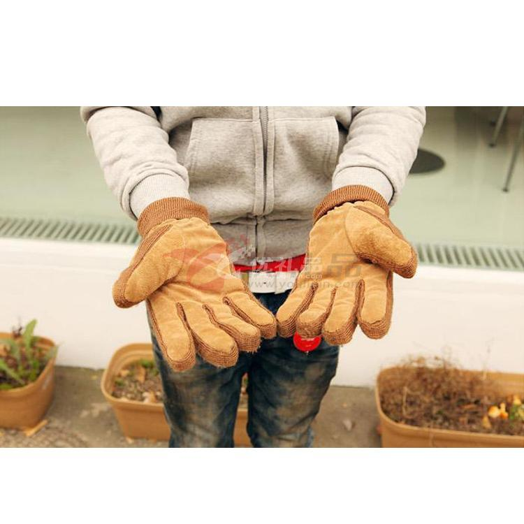 韓版豬皮保暖手套 可來樣加工定制各種款式真皮手套