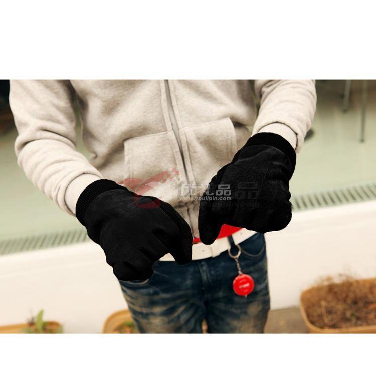 韩版羊皮保暖手套 可来样加工定制各种款式真皮手套