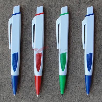小批量定做 商务广告圆珠笔/广告笔/白扁笔双面logo