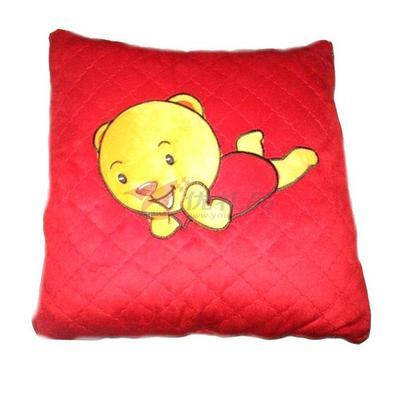 超柔绗缝抱枕被
