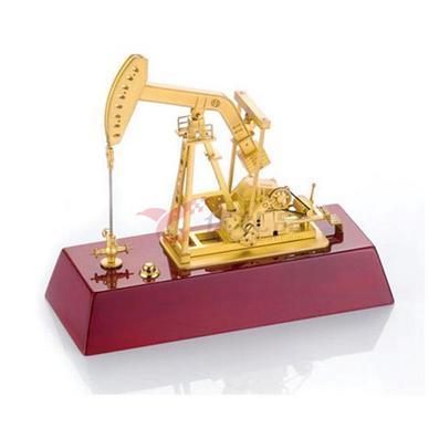 辦公桌擺件/一帆風順電動抽油機模型