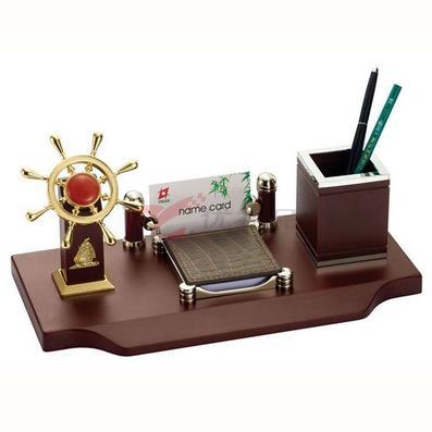辦公室擺件/多功能筆筒/帶領航舵手、名片盒名片夾名片包定制