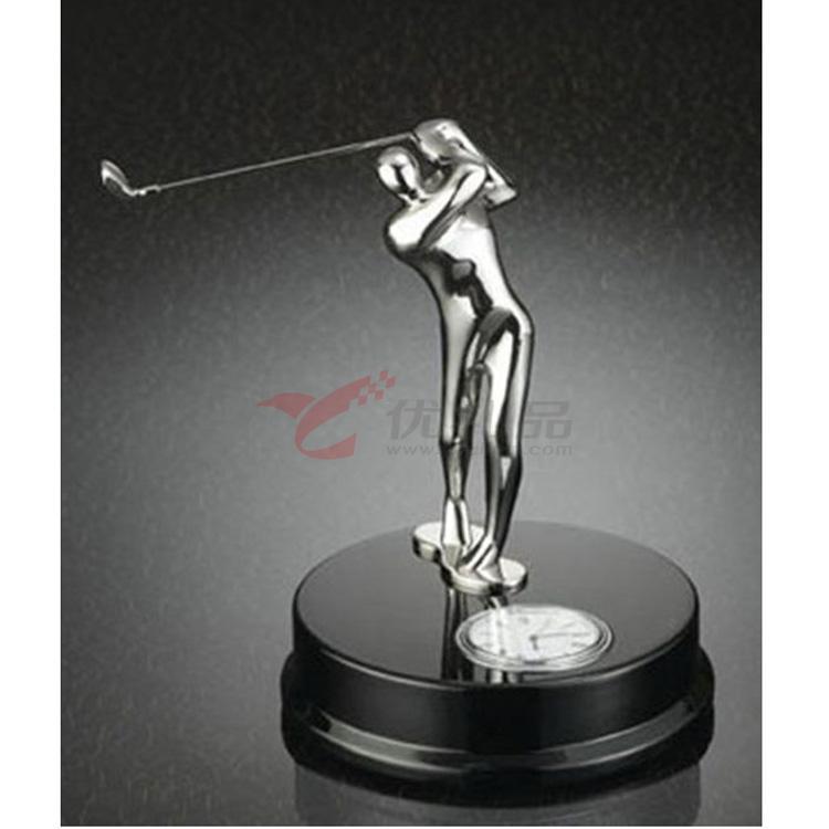办公桌高尔夫摆件/带石英表