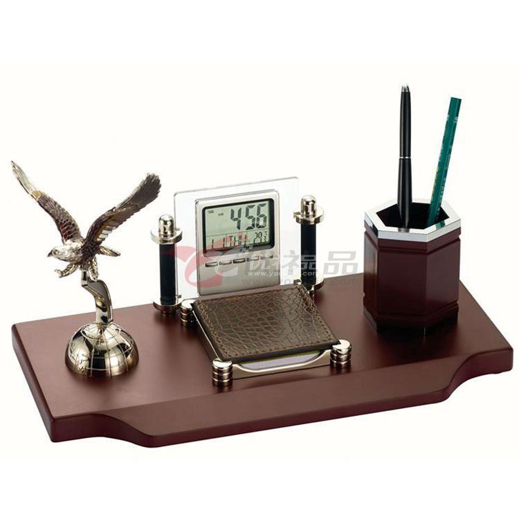 办公室摆件/多功能笔筒/带电子万年历、大展宏图、名片夹名片盒