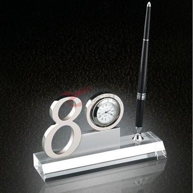 办公室数字摆件/带石英表、笔筒