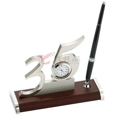 数字35办公室摆件/带石英表