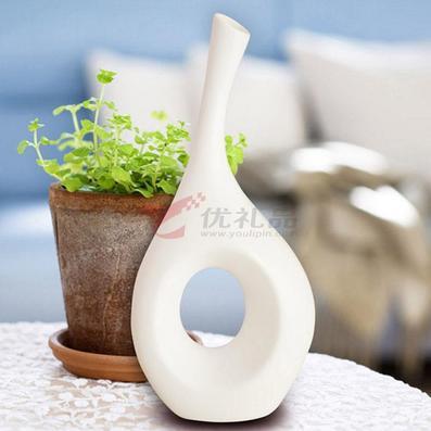 陶瓷花瓶/陶瓷工艺摆件/办公桌摆件