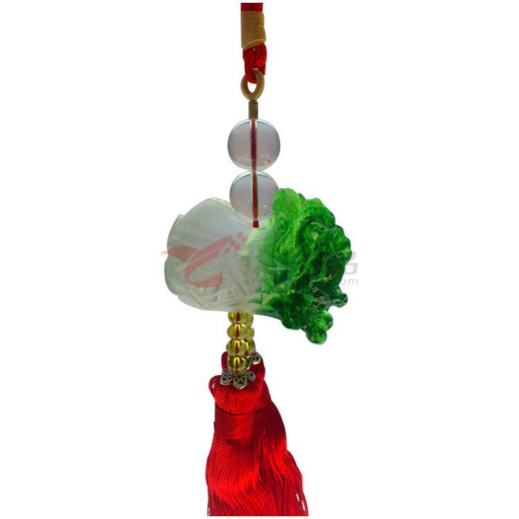 福緣琉璃 車掛件車掛飾 高檔汽車內飾用品 禮品 白菜百財