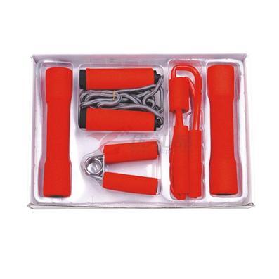 家庭健身六件套(2個啞鈴+2個握力器+1條跳繩+1條拉力器)定制