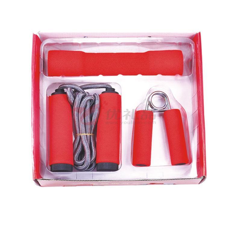 家庭健身三件套(1个哑铃+1个握力器+1条跳绳)定制