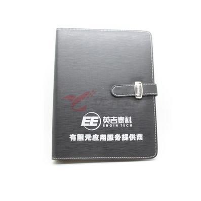 黑色纹理PU笔记本定制