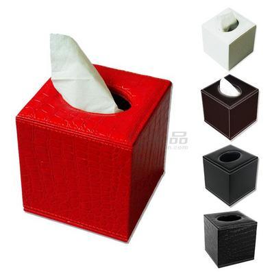 皮革方型紙巾盒 小號紙抽盒 抽紙盒 車用 酒店客房 禮品 定制