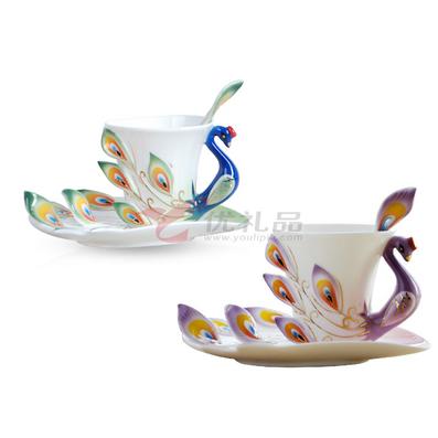 咖啡杯-情侶對杯碟
