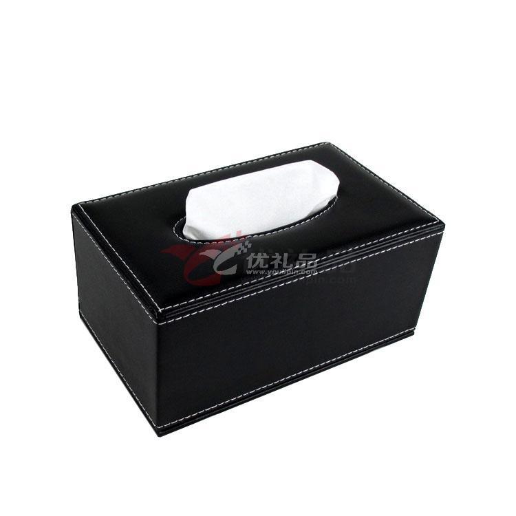 長方形皮質紙巾盒 優質中號抽紙盒 車用 禮品 定制