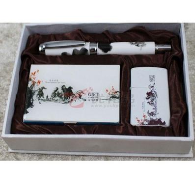 潑墨青花瓷陶瓷鋼筆簽字筆套裝
