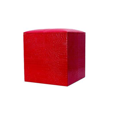 歐式經典皮質十字儲物凳大號 收納凳 儲物箱定制