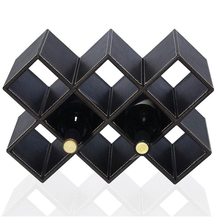 经典皮质八格酒架红酒架 横竖两用 葡萄酒架定制