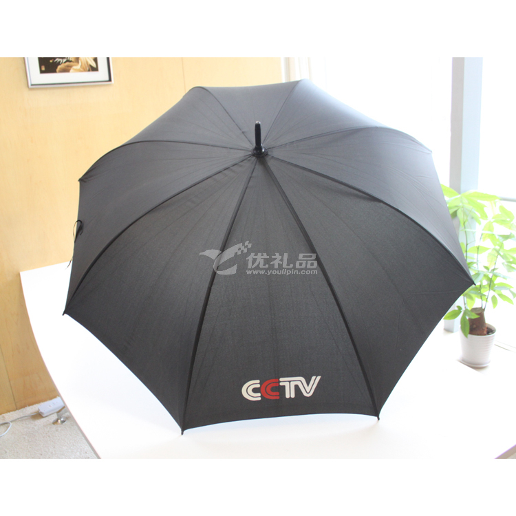 70公分雙骨CCTV雨傘 直桿傘定制