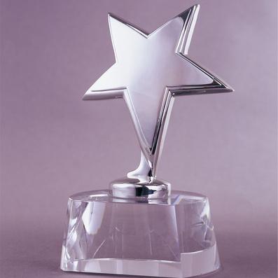 五星水晶獎杯